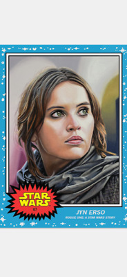 Topps Star Wars Living Set Card Jyn Erso #67 Rogue One A Star Wars Story