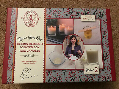 Kirstie Allsopp Make Your Own Vegan Soy Wax Candles Cherry Blossom Scented