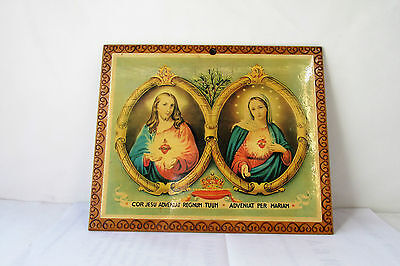 Old Catholic icon of Jesus Christ and Virgin Mary