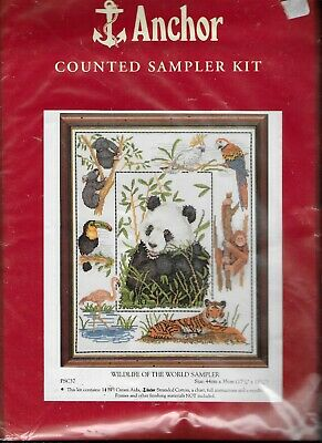 Anchor Counted Cross Stitch Kit Wildlife of The World Sampler PSC37 Sealed New