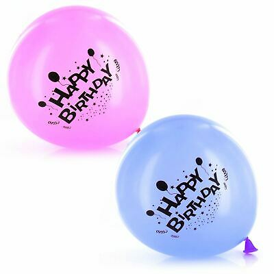 """16x Birthday Party Balloons Blue Pink Boy Girl 9"""" kids adults latex helium pack"""