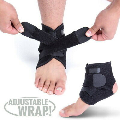 Ankle Support Compression Brace Adjustable Stabilizer Foot Wrapfor Sports