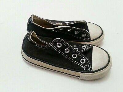 converse boys sneakers size 7 23 kids all star canvas sport trainers shoes black