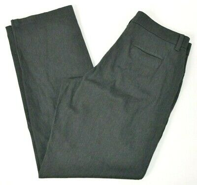 Lee Womens Relaxed Fit Straight Leg At Waist Pants, Gray 12 LONG