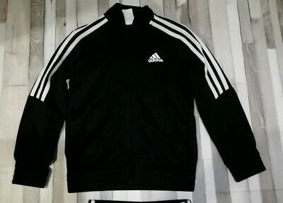 Boys Black Adidas Jogging Suit Bottoms And Jacket Aged 7-8 Years
