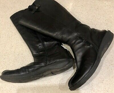 Ladies Cherry Muffin Black Mid Calf Leather Beautiful Boots Size 41 UK 8