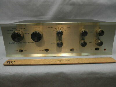 <>DYNACO PAS-DYNA STEREO TUBE PREAMPLIFIER-Telefunken Tubes Minimal Use-Tested<>
