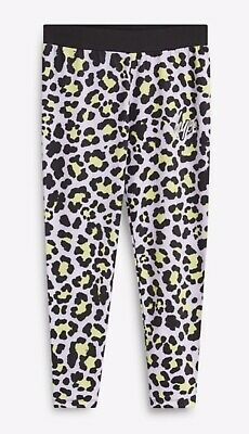 Girls HYPE Leggings, Candy Leopard/Animal Print, Multi - Size 13 Years, NEW