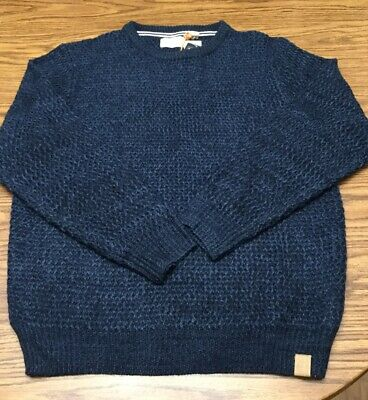 Weatherproof Mens Sweater Size XL Blue Marl Textured Knit Pullover Crewneck NWT