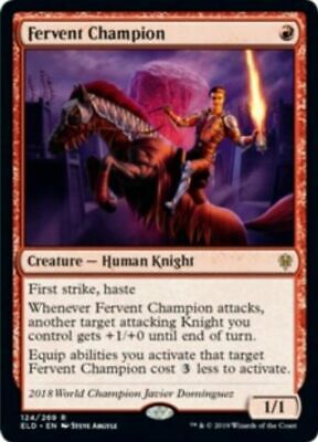 1x Fervent Champion - NM - ELD - Throne of Eldraine - MTG - Magic x1