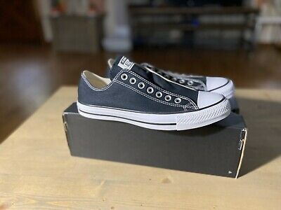 Converse Womens Classic Slip On Black Chuck Taylor Low Top Shoes Mens 7 Womens 9