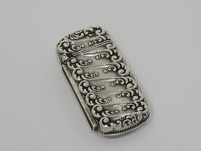 2.5 in - Sterling Silver W&D Antique American Floral Matchbox