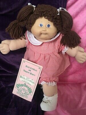 Mint Coleco  Doll ~ In All Her Original Clothing + Vintage Birth Certificate