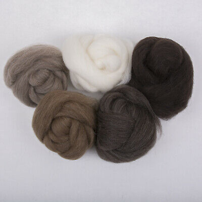 100g*Mixed*PROFESSIONALLY COMBED SHETLAND FLEECE* Scottish.wool.tops.roving