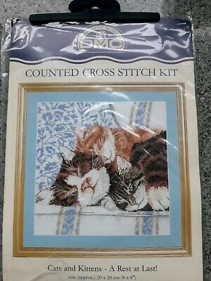"""Cross Stitch Kit """"Cats and Kittens """"New By DMC"""