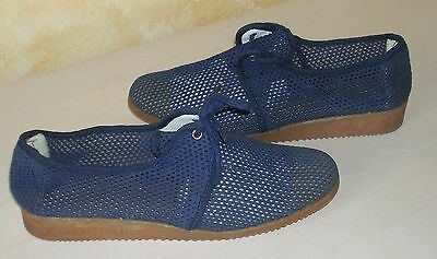 Scarpe Shoes A Rete Blu Donna Vintage Made In Italy  Num  40