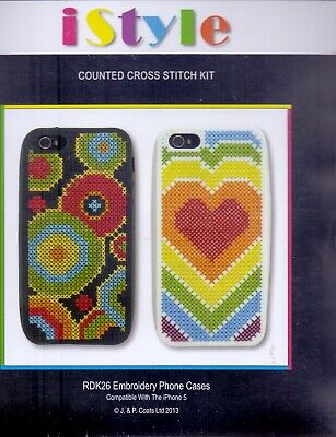 Anchor istyle Counted Cross Stitch Kit Phone Case compatible with Iphone 5
