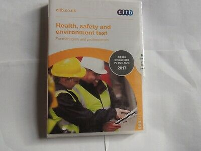 NEW CITB 2017 CSCS Card Test Health Safety and Environment for Operatives DVD CD