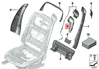 For BMW Genuine Seat Belt Guide Front Right Outer 52107228306