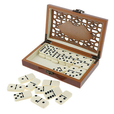Classic Double Dominoes with Box Traditional Standard Set of 28 Tiles Family LC