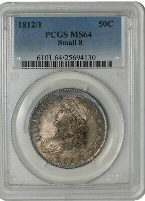 1812/1 Capped Bust Half 50c Small 8 O-102a MS64 PCGS 942674-1