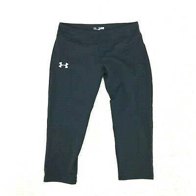 Under Armour Girls Heatgear Sonic Fitted Capi Size XL Black 20 Inseam 6-28