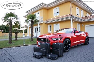 Roadsterbag Koffer-Set für Ford Mustang Cabrio (ab 2014) - Naht silber o. rot