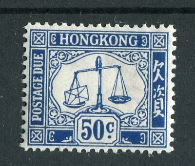 Hong Kong KGVI 1938-63 Postage due 50c blue SG.D12 mounted mint