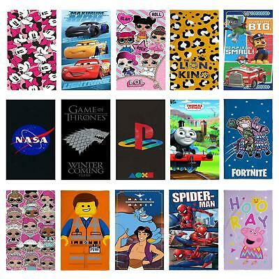Kids Towels Boys Girls - Disney Frozen Cars Avengers Toy Story Mickey Mouse
