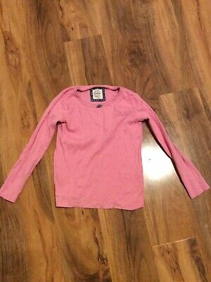 Mini Boden 5-6 Yrs Pink Long Sleeved Top