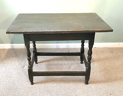 18th Century New England Tavern Table Old Paint Primitive Delivery Avail