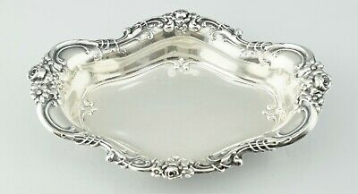 Wallace Sterling Silver #4114 Royal Rose Repousse Candy Nut Dish Bowl No Mono