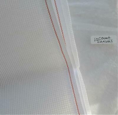 Double White Tapestry Canvas 10 HPI  60cm wide x 100cm   Zweigart 10 count duo
