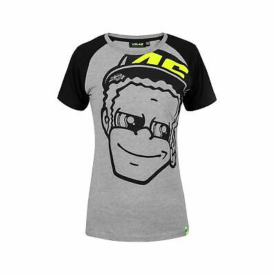 Valentino Rossi VR46 Moto GP Grey Women's T-shirt Official New