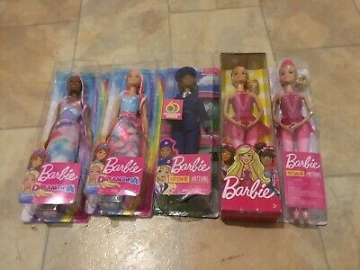 5 X Barbie Dolls