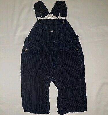 Mini Boden Boys Blue Corduroy Overalls Size 6-12 Months