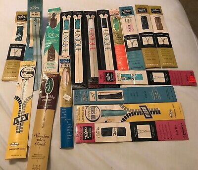 Lot of 18 vintage zippers, new