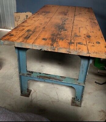 Vintage Industrial Bench / Table - Cast Iron