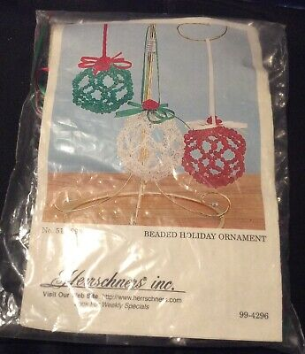 Herrschners Beaded Holiday Ornament Kit - NIP