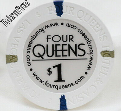 $1 One Dollar Poker Gaming Chip Four Queens Casino Las Vegas Nevada Fremont