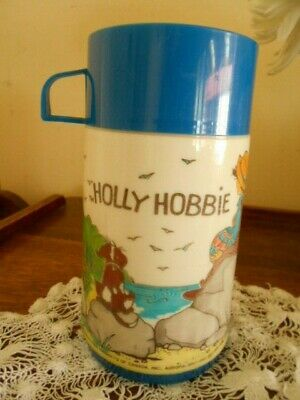 VINTAGE  1970/80's HOLLY HOBBIE THERMAL FLASK  (HOT OR COLD) MADE IN CANADA
