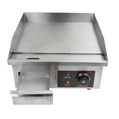NEW Commercial Electric Griddle & Grill Hot Plate Stainless Steel BBQ Fryer Tool