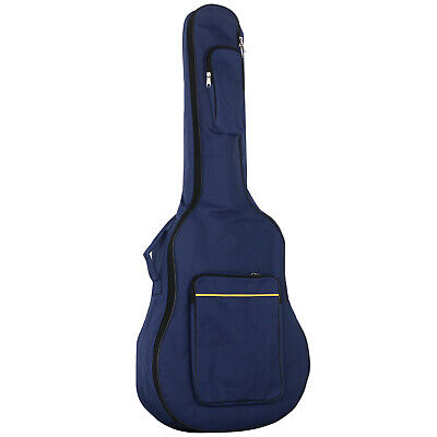 TRIXES Blue Protective Full Size Acoustic Guitar Waterproof Padded Case Bag