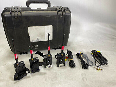 Teletest 5.8ghz composite transmitter kit of 4 + Case and cables