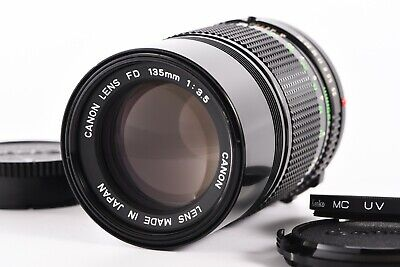 """""""Mint"""" Canon New FD 135mm f/3.5 NFD MF Lens FD Mount Telephoto From Japan"""