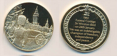 Great Britain: 1965 Churchill's Funeral 25.6g Gilt Sterling Silver Medal