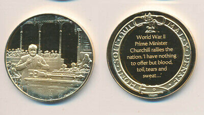 Great Britain: Churchill At WWI Rallied the Nation 25.6g Gilt Stg Silver Medal