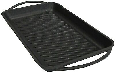 InfinityChef Cast Iron Large Black Grill Plate Griddle Pan Induction Grill Plate
