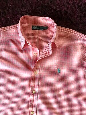 Super Cool 100% Genuine Mens Ralph Lauren Check Shirt In XL