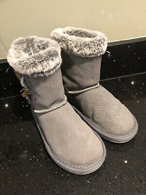 Girls TU Grey Boots Infant Size 11 (worn Once)